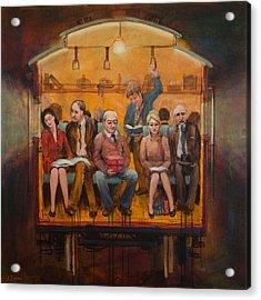 Night Train Acrylic Print by Jennifer Croom
