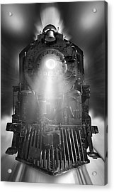 Night Train On The Move Acrylic Print
