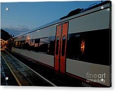 Night Train To London Acrylic Print by Deborah Smolinske