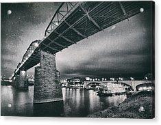 Night Under The Bridge Acrylic Print