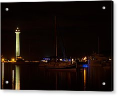 Night View Of Put-in-bay Acrylic Print