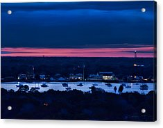 Night View Of St. Augustine Bayfront South Acrylic Print