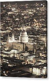 Night View Over St Pauls Acrylic Print