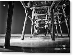 Night View Under San Clemente Pier Acrylic Print