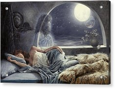 Night Voyage Acrylic Print by Lucie Bilodeau