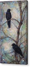 Night Watch -  Ravens Acrylic Print by Lori  McNee