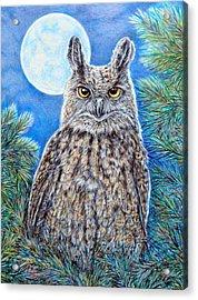 Night Watchman Acrylic Print by Gail Butler