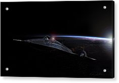 Night Whisper Sr-71 Acrylic Print by Peter Chilelli