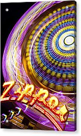 Night Zipper Acrylic Print