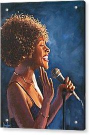 Nightclub Singer Acrylic Print
