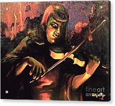 Nightclub Violinist - 1940s Acrylic Print