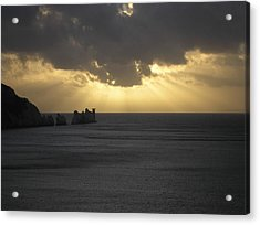 Nightfall At The Needles Point In The Isle Of Wight Acrylic Print