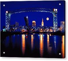 Nightfall In Cleveland Acrylic Print
