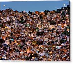 Nightfall In The Favela Da Rocinha Acrylic Print