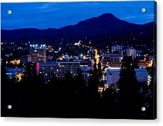 Nightfall Over Eugene Acrylic Print