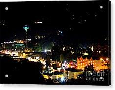 Nightlight In Gatlinburg Acrylic Print