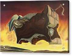 Nightmare Of An Over-inflated Workhorse Acrylic Print by Mack Galixtar