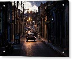 Nights Streets Of Matanzas Acrylic Print by Marco Tagliarino
