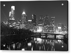 Acrylic Print featuring the photograph Nighttime In Philadelphia by Alice Gipson