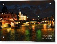 Nighttime Paris Acrylic Print by Elena Elisseeva