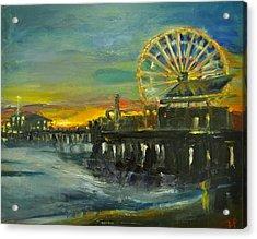 Nighttime Pier Acrylic Print