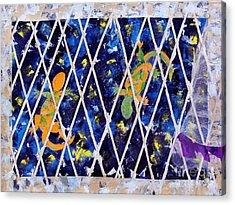 Nighttime View From The Kitchen Window Acrylic Print by Paula Drysdale Frazell