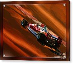 Niki Lauda's Ferrari Acrylic Print