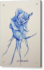 Niki's Rose Acrylic Print by Marna Edwards Flavell