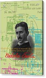 Nikola Tesla #3 Acrylic Print