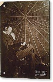 Nikola Tesla Acrylic Print by Granger