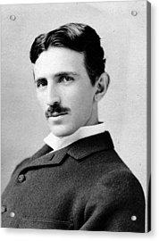 Nikola Tesla Portrait Acrylic Print