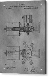Nikola Tesla's Patent Acrylic Print by Dan Sproul