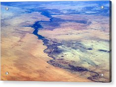 Nile River From The Iss Acrylic Print by Science Source
