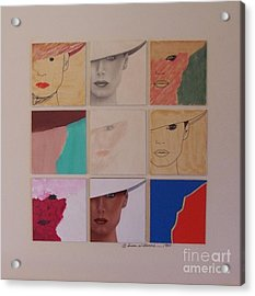 Nine Ladies Lolling Acrylic Print by Susan Williams