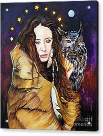 Nine Stars Woman / Owl Medicine Acrylic Print