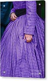 Ninetenth Century Woman In Purple Acrylic Print by Stephanie Frey