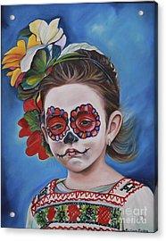 Ninya Muerta 1 Acrylic Print by Barbara  Rivera