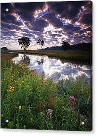 Nippersink Sunrise Acrylic Print by Ray Mathis
