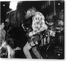 Nirvana Playing In Front Of Crowd Acrylic Print