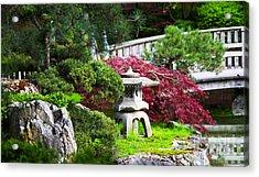 Nishinomiya Japanese Garden Acrylic Print by Chris Heitstuman