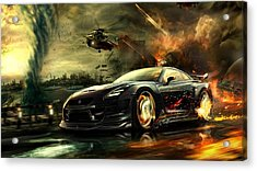 Nissan G T R Acrylic Print by Movie Poster Prints