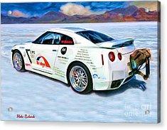 Nissan Salt Flats Acrylic Print