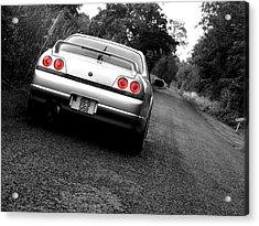 Nissan Skyline Acrylic Print by Eddie Armstrong