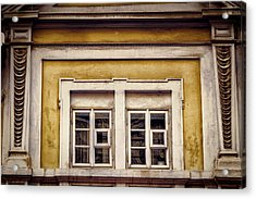Nitty Gritty Window Acrylic Print by Joan Carroll