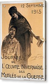 Nivernaise Day For The War Disabled Acrylic Print by Maurice Louis Henri Neumont