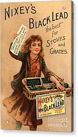 Nixey�s 1890s Uk Black Lead  Products Acrylic Print by The Advertising Archives