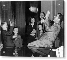 Nixon Catching Football Acrylic Print
