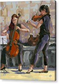 Sold No. 1 Trio In Triptych Acrylic Print