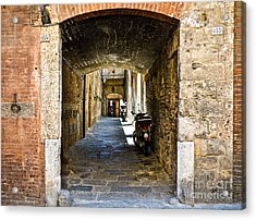 No 155 And 157 - Siena Acrylic Print by Amy Fearn
