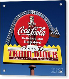 No Dinner At The Diner Acrylic Print by Mel Steinhauer